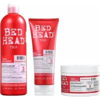 Kit Shampoo Condicionador E Máscara Tigi Haircare Resurrection