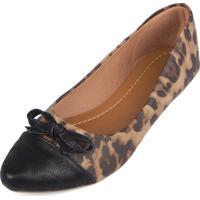 Sapatilha Trivalle Shoes Onça Com Laço