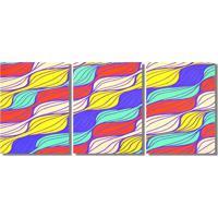 Quadro Painel Decorativo Abstrato Ondas Pintado A Mão Pastel