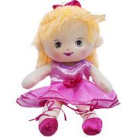 Boneca Minas De Presentes Bailarina Cabelo Ponytail 35Cm Laranja