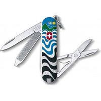 """Canivete Classic """"Ondas Do Rio""""- Inox & Branco- 5,8Cvictorinox"""
