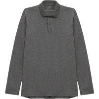 Camisa Polo Manga Longa Masculina Cinza