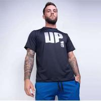 Blusa Fitness Crossfit Up Preta Bl241