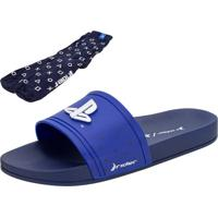 Chinelo Masculino Slide Playstation Ii Rider - 11748 Azul 37/38