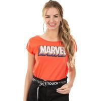 Blusa Estampa Localizada Laranja Marvel