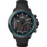 Relógio Masculino Analógico Timex, Caixa De 4,7 Cm, Pulseira De Silicone, Resistente A Água 100 Metros - T2P272Pl/Ti