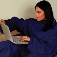Cobertor Com Mangas Marinho