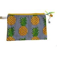 Necessaire Ania Store Pineapple Feminina - Feminino-Amarelo
