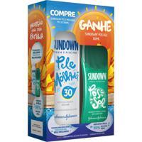 Kit Sundown Protetor Solar Pele Molhada Spray Fps 30 200Ml + Gel Pós Sol 130Ml