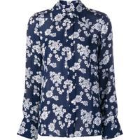 Michael Michael Kors Blusa Floral - Azul