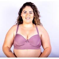 Sutiã Bojo Plus Size Gatria Reforçado Satin Feminino - Feminino-Lilás