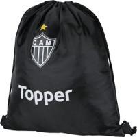 Gym Sack Do Atlético-Mg 2018 Topper - Preto