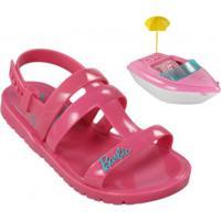 Sandália Infantil Grendene Barbie Iate