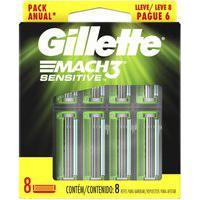 Carga Para Aparelho De Barbear Gillette Mach3 Sensitive Com 8 Unidades 8 Unidades