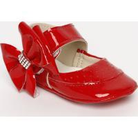 Sapato Boneca Com Laã§O & Termocolantes- Vermelho- Titico Baby