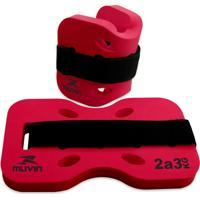 Caneleira Muvin Para Hidroginástica 23 Kg Vermelho