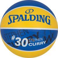 Bola De Basquete Spalding Nba Golden State Warriors Stephen Curry 30 - Amarelo/Azul