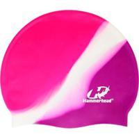 Touca De Silicone Hammerhead Lisa Multicor / Violeta-Branco-Pink - Unissex