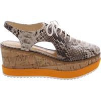 Oxford Flatform Orange Sole Summer Snake | Schutz