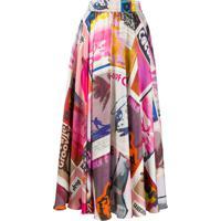 Zimmermann Printed High-Waist Skirt - Rosa