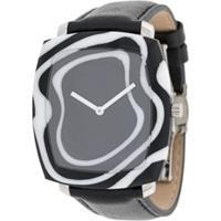 Yunik Relógio Zebra - Preto