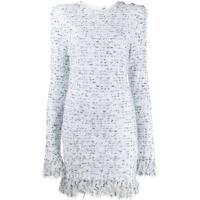Balmain Vestido De Tweed - Branco