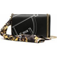 Versace Jeans Couture Clutch Com Detalhe De Costura - Preto