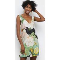 Vestido Curto Farm Verão Tropical - Feminino-Estampado