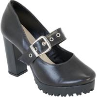 Sapato Meia Pata Preto Tratorado