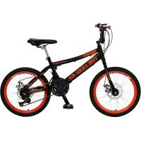 Bicicleta Infantil De Passeio Aro 20 Freio A Disco 21 Marchas Skyll Boy Quadro 12 Aço Preto - Colli Bike - Tricae