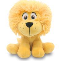 Bicho De Pelúcia Safari Leão 20 Cm Antialérgico Animais Selvagem Para Bebê - Kanui