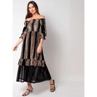 Vestido Elora Ciganinha Gótico Feminino Marrom