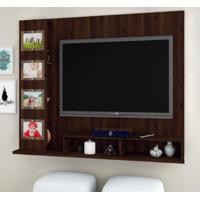 Rack / Home / Painel Suspenso Para Tv De 55 Polegadas Com 4 Porta Retrato De Vidro - Capuccino