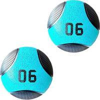 Kit 2 Medicine Ball Liveup Pro D 6 Kg Bola De Peso Treino Funcional - Unissex