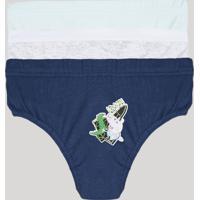 Kit De 3 Cuecas Infantis George Pig Multicor
