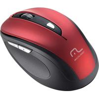 Mouse Sem Fio Comfort Usb Vermelho E Preto Mo239 Multilaser