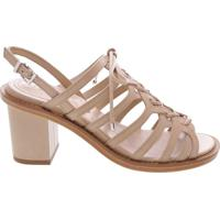 Sandália Block Heel Lace-Up Blush | Schutz