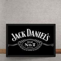 Quadro Decorativo Jack Daniels Rótulo 25X35