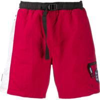 Tommy Jeans Sunga Com Estampa De Logo - Vermelho