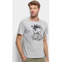 Camiseta Cavalera Caveira Piloto Masculina - Masculino-Mescla