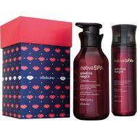 Kit Presente Nativa Spa Ameixa Negra: Body Splash 200Ml + Loção Hidratante Desodorante 400Ml