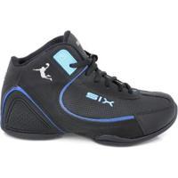 Tênis De Basquete D&R Shoes Masculino - Masculino-Preto+Azul