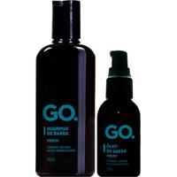 Kit Go. Fresh Shampoo 140Ml + Óleo Para Barba 25Ml