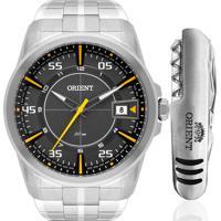 Kit Relógio Orient Masculino Com Canivete Mbss1315Kv62Gys