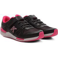 Tênis Infantil Kidy Style Jogging Sport Feminino - Feminino-Preto+Pink