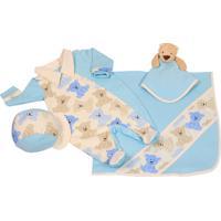 Saída De Maternidade Letícia Enxovais Naninha Lorenzo Azul