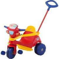Triciclo Infantil Velobaby Com Empurrador - Unissex-Vermelho
