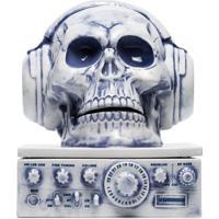 Neighborhood Suporte Para Incenso De Caveira Com Headphones - Azul