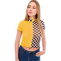 Blusa Saloon 33 Quadriculada Amarela