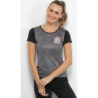 Camiseta Corinthians Cubos Feminina - Feminino